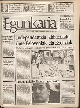 Independentzia aldarrikatu dute Esloveniak eta Kroaziak