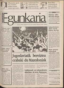 Jugoslaviatik bereiztea erabaki du Mazedoniak