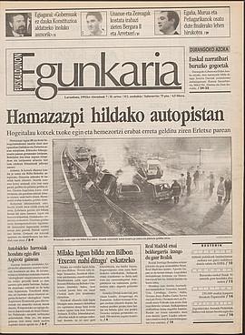 Hamazazpi hildako autopistan