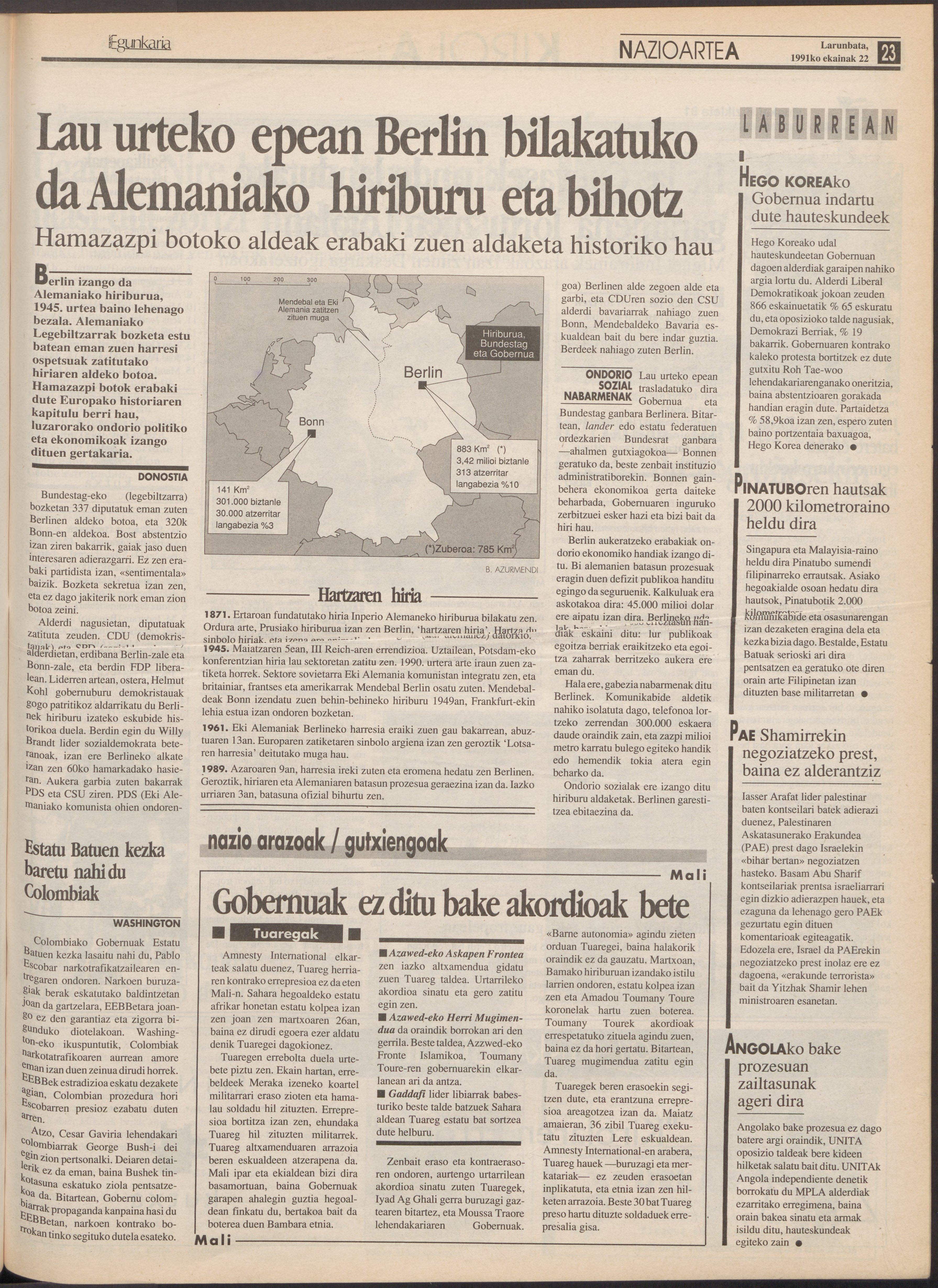 1991ko ekainak 22, 23. orrialdea