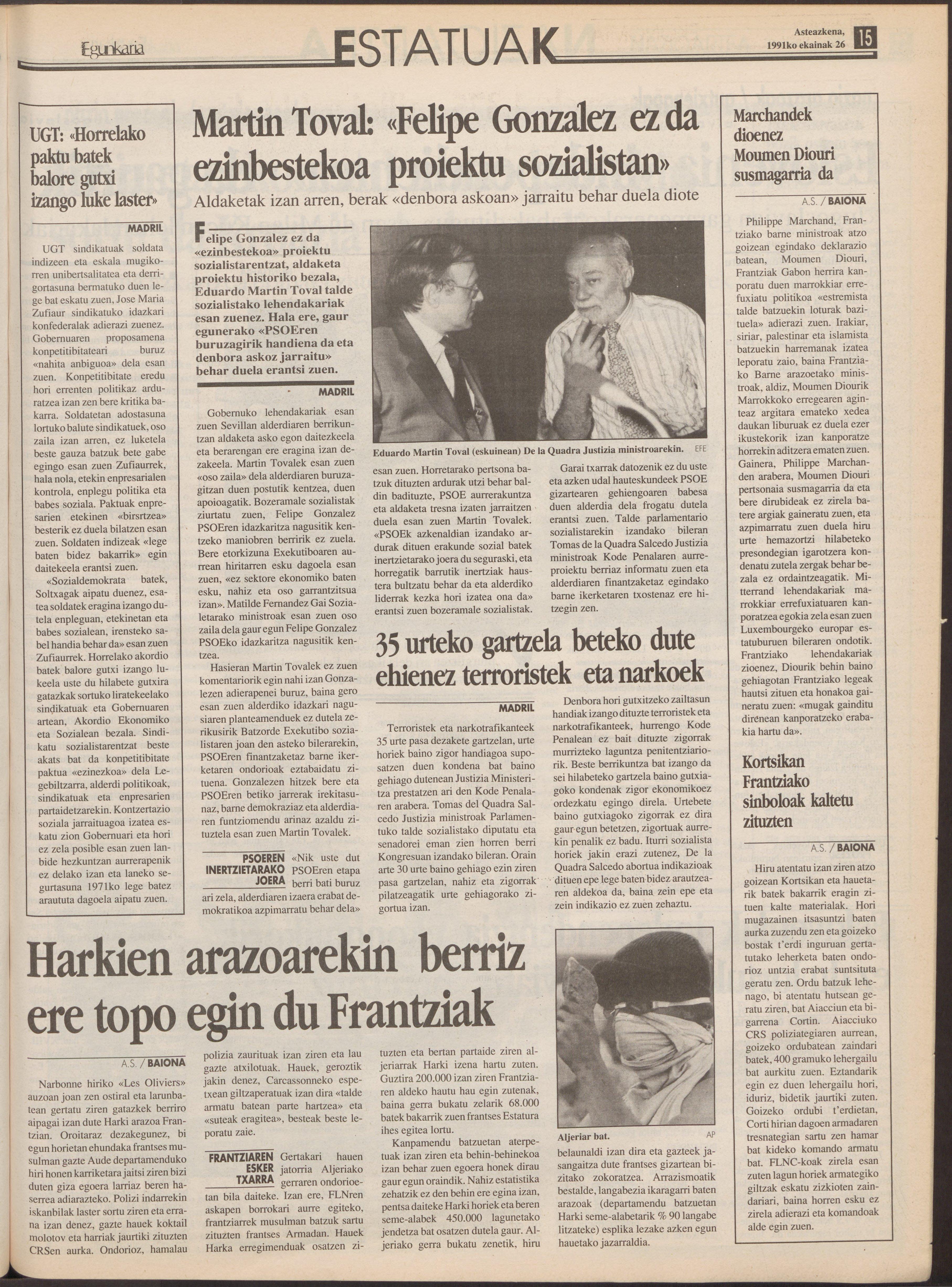 1991ko ekainak 26, 15. orrialdea