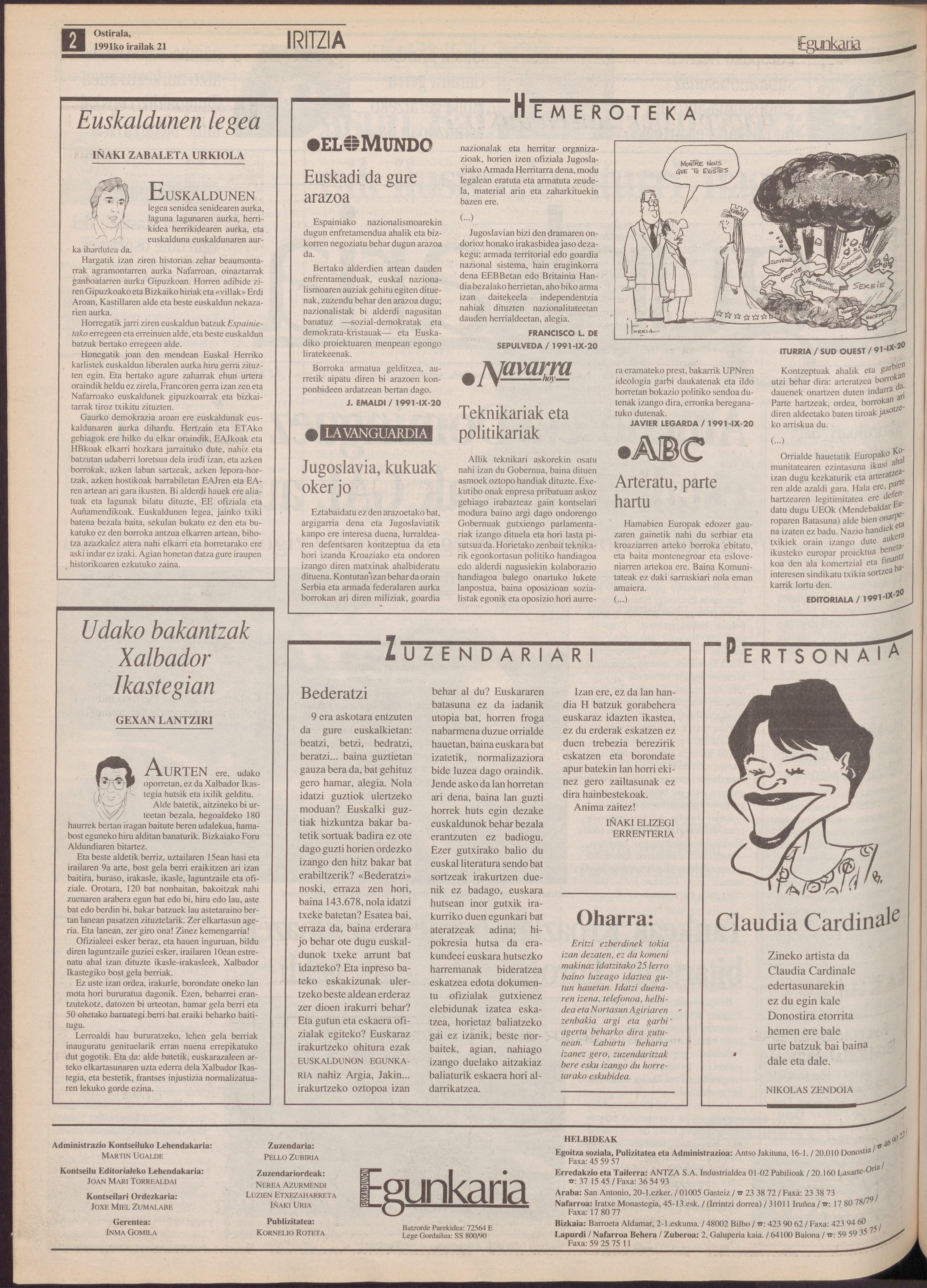 1991ko irailak 21, 02. orrialdea