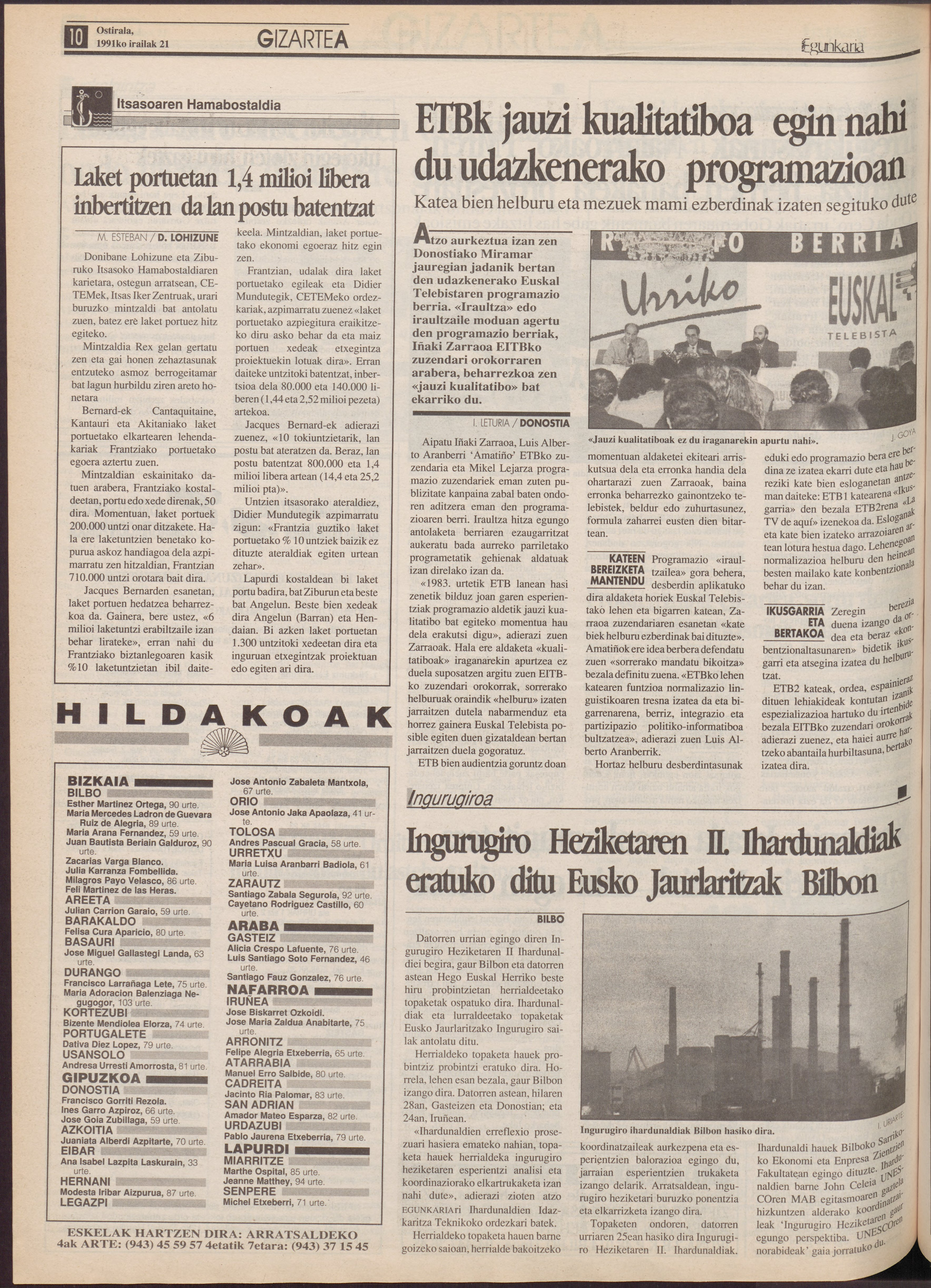 1991ko irailak 21, 10. orrialdea