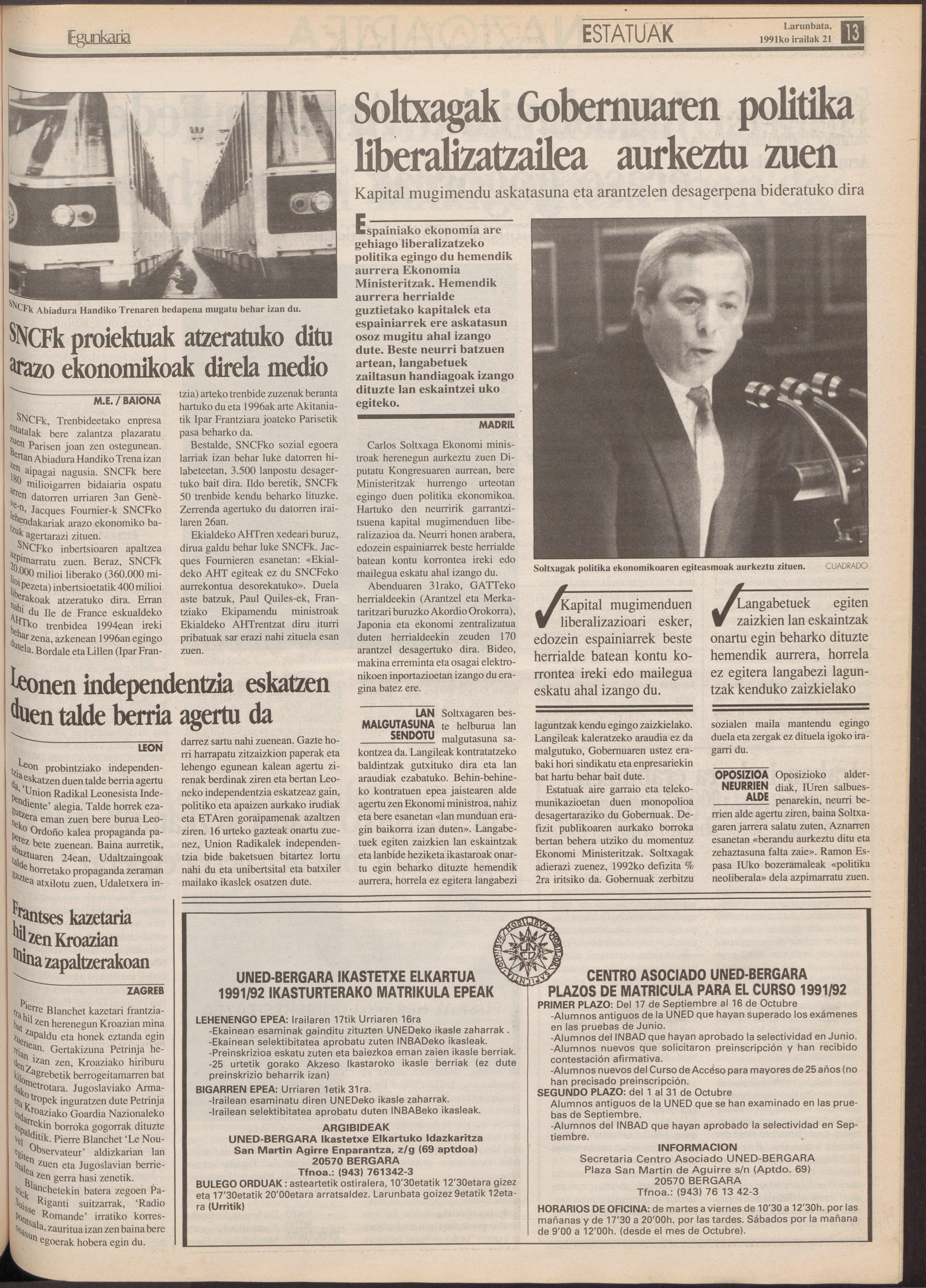 1991ko irailak 21, 13. orrialdea