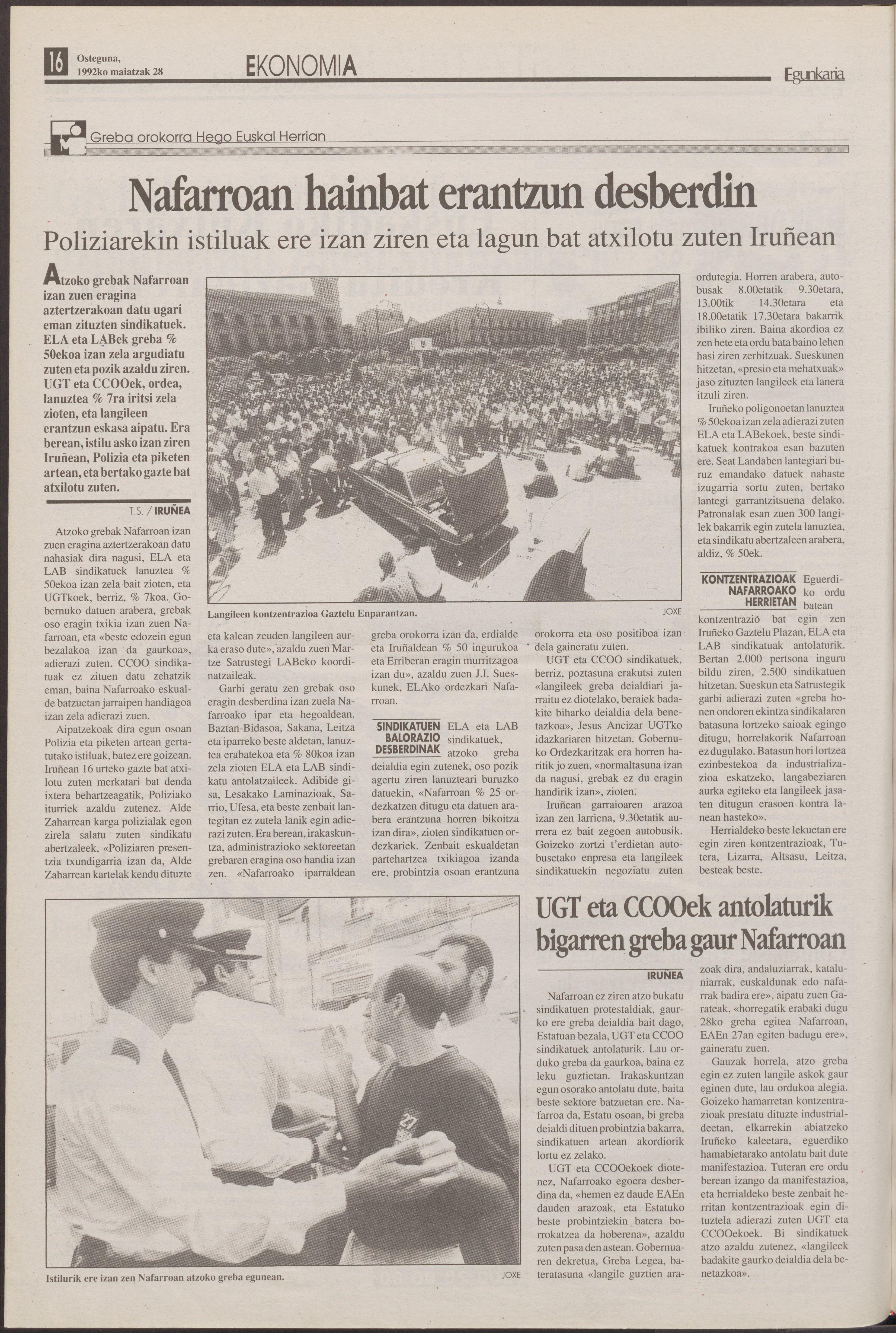 1992ko maiatzak 28, 16. orrialdea