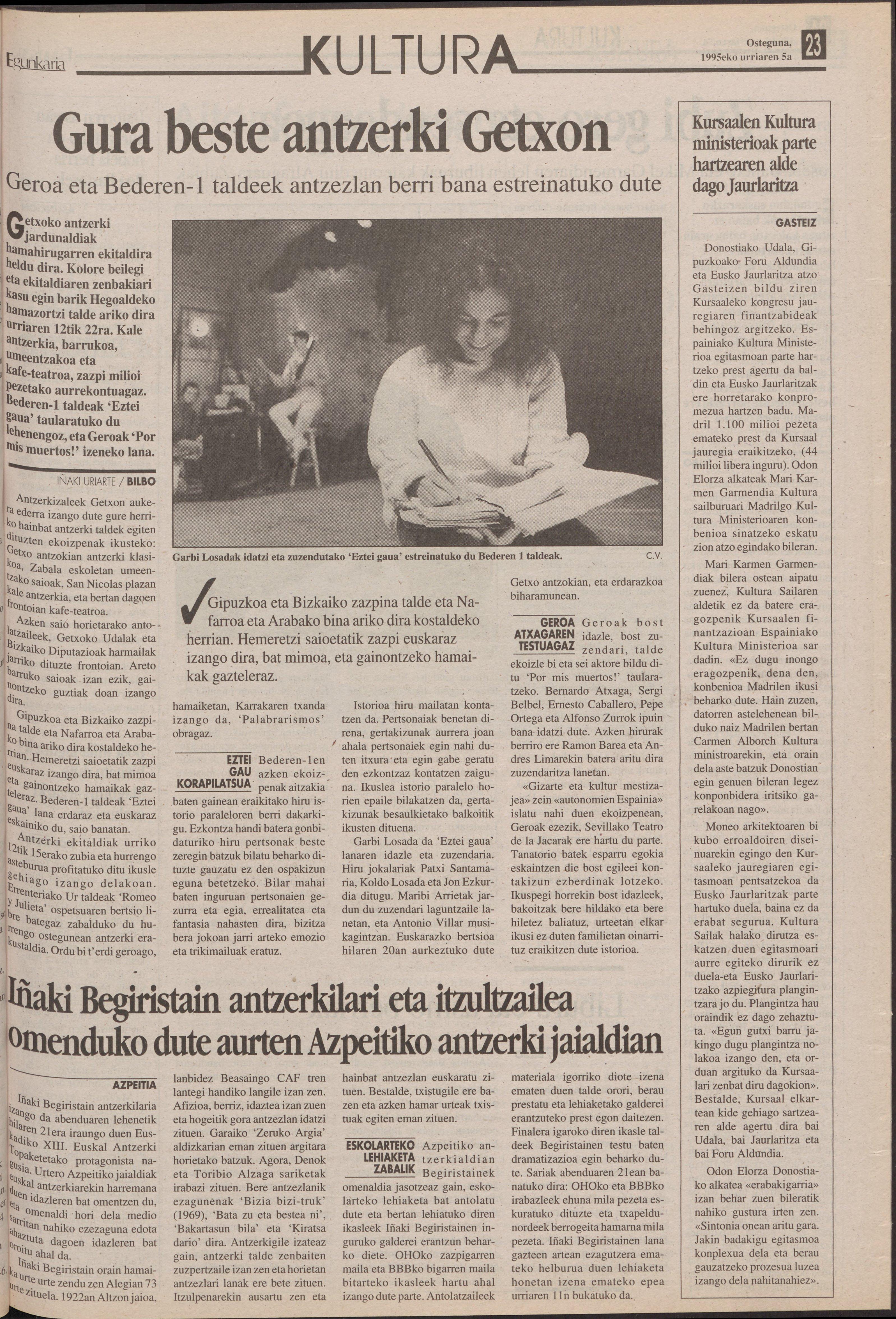 1995ko urriak 5, 23. orrialdea