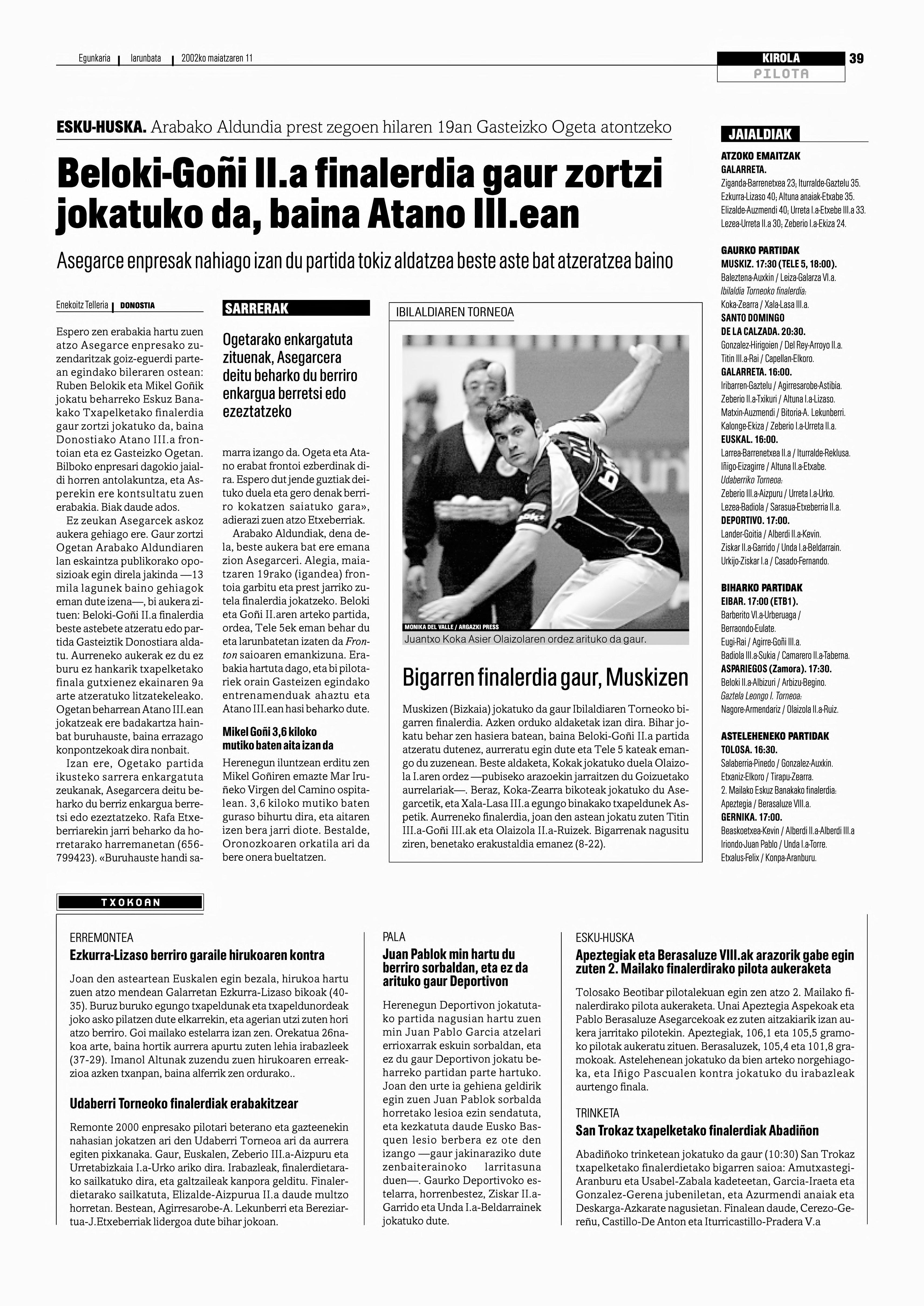Euskaldunon Egunkariaren hemeroteka  1990-2003  - Berria